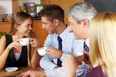 Business people taking a break royalty free stock photography