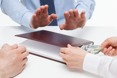 Business people taking a bribe Stock Photography