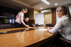 Business people taking deal at office meeting room Royalty Free Stock Photos