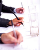 Business People Taking Notes In Conference Stock Images