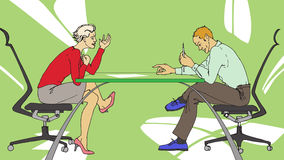 Business people talking. Two persons having tough discussion on business at the office Royalty Free Stock Photography