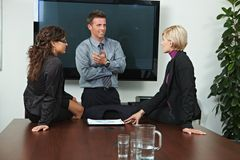 Business people talking Royalty Free Stock Photo