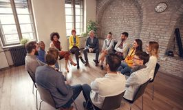 Free Business People Talking At Group Meeting Royalty Free Stock Images - 126183479
