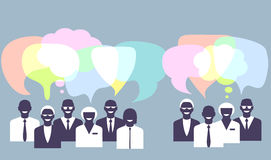 Business people talking. Concept illustration Stock Image