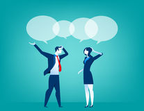 Business people talking. Concept business illustration. Vector flat Royalty Free Stock Photos