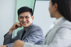 Business People Talking in a Conference Room Royalty Free Stock Photo