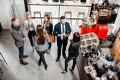 Business people in the cafe royalty free stock photo