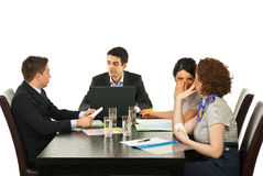 Business people talking at meeting Stock Photography