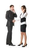 business people talking on mobile phone Royalty Free Stock Images