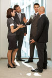 Business people talking in office Stock Images