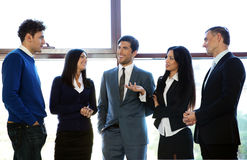 Business people talking in the office Royalty Free Stock Photo