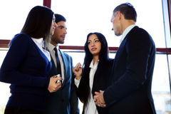 Business people talking in the office Royalty Free Stock Images