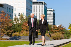 Business People Talking Outdoors Royalty Free Stock Images