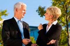 Business People Talking Outdoors Stock Photos