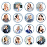 Business people talking on the telephone. Online support and com Royalty Free Stock Photo