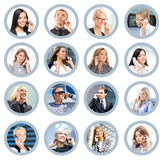Business people talking on the telephone Stock Image