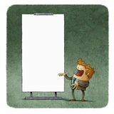Business people talking at white board Royalty Free Stock Image
