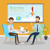 Business people talking at working office space. Business people talking at working office space Stock Photo