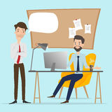 Business people talking at working office space. Stock Images
