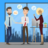 Business people talking at working office space. Stock Photography