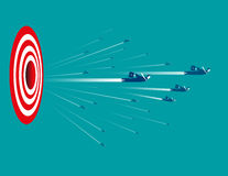 Business people with target sign. Concept business illustration. Vector flat Stock Images