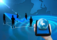 Business people team. With world map Royalty Free Stock Images