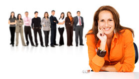 Business people in a team Stock Photos