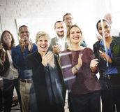 Business People Team Applauding Achievement Concept.  stock photo