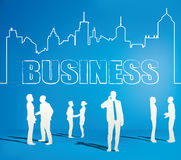 Business people team with city line Stock Image
