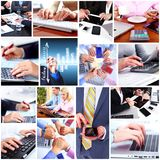 Business people team collage. Stock Image