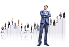 Business people team and diagram Royalty Free Stock Photos