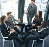 Business people team discussing together business plans. Royalty Free Stock Photos