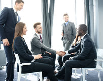 Business people team discussing together business plans. Royalty Free Stock Photography