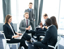 Business people team discussing together business plans. Royalty Free Stock Photo