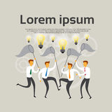 Business People Team Hold Net Catch Light Bulb Brainstorm Concept Royalty Free Stock Photo