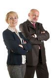 Business people and team. Isolated over white background Royalty Free Stock Image