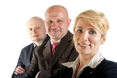 Business people and team. Isolated over white background Royalty Free Stock Images