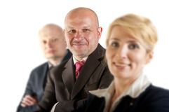 Business people and team. Isolated over white background Stock Image