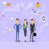 Business people team manager human resources flat Royalty Free Stock Photos