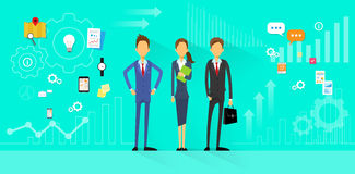 Business People Team Manager Human Resources Flat Stock Photo