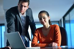 Business people team on meeting. At bright office space Royalty Free Stock Photography