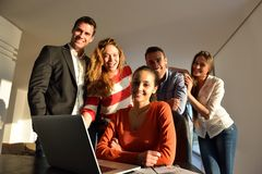 Business people team on meeting stock image