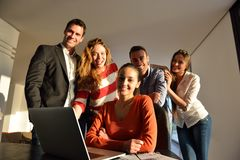 Business people team on meeting royalty free stock photos