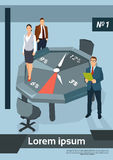 Business People Team Office Desk Clock Time Concept Stock Photography