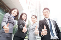 Business people team. In the office, shot in Hong Kong, asian women and man Stock Photography