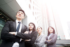 Business people team. In the office, shot in Hong Kong, asian women and man stock image
