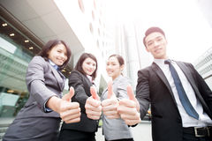 Business people team. In the office, shot in Hong Kong, asian women and man Royalty Free Stock Image