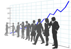 Business People Team Profit Growth Chart royalty free illustration