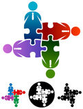 Business people team puzzle Stock Images