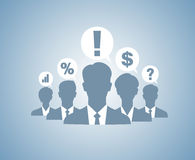 Business people team silhouettes Royalty Free Stock Photography